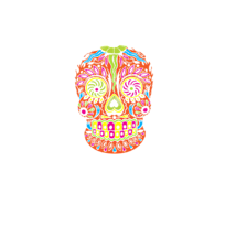 Torba Colorful Skull - Straszne