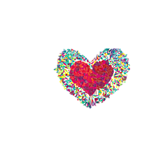 Kubek Colorful Heart