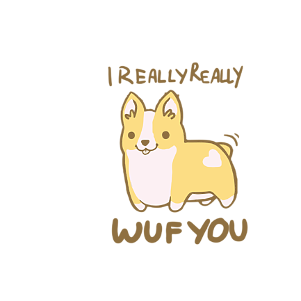 Kubek I really wuf you - Walentynki