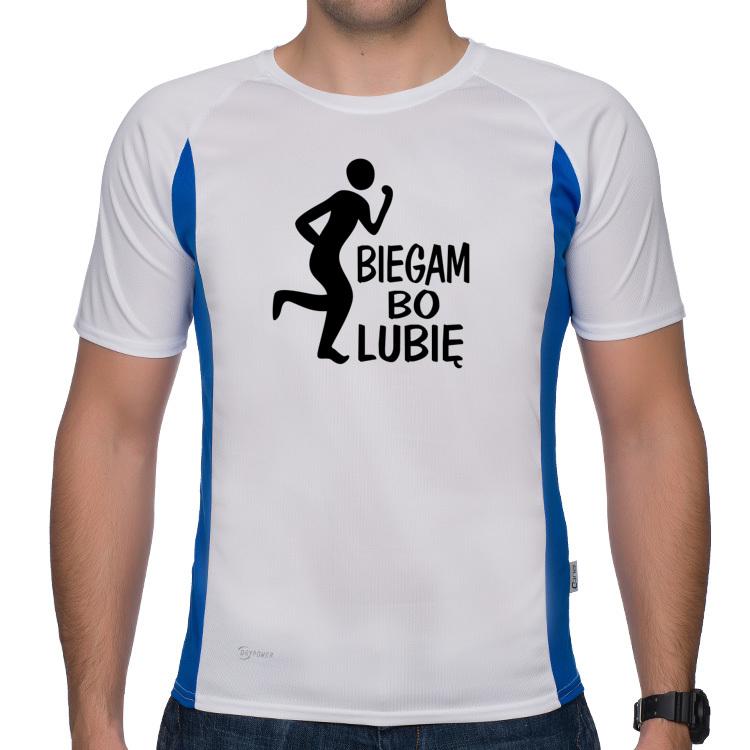 Koszulka sportowa Biegam bo lubię