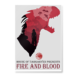 Plakat Fire and blood - Plakaty