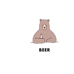 Kubek Bear with Beer - ROOT
