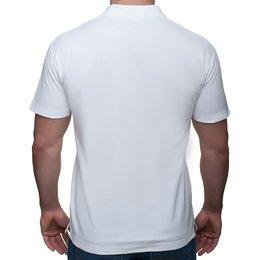 034f183e1 ... Męska koszulka polo (bez nadruku, gładka) - biała - Gładkie / czyste ...