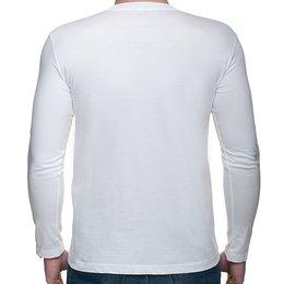 def2c8dfd ... Męska koszulka z długim rękawem (bez nadruku, gładka) - biała - Gładkie  ...