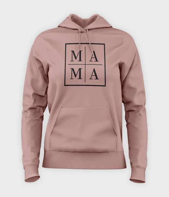 Bluza damska z kapturem Mama - kwadrat
