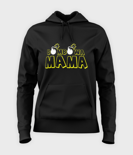 Bluza damska z kapturem Bombowa mama