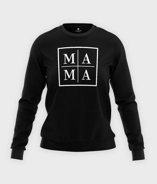 Bluza klasyczna damska Mama - biały kwadrat