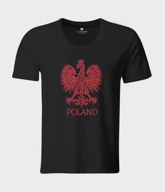 Koszulka męska z luźnym dekoltem Poland 5