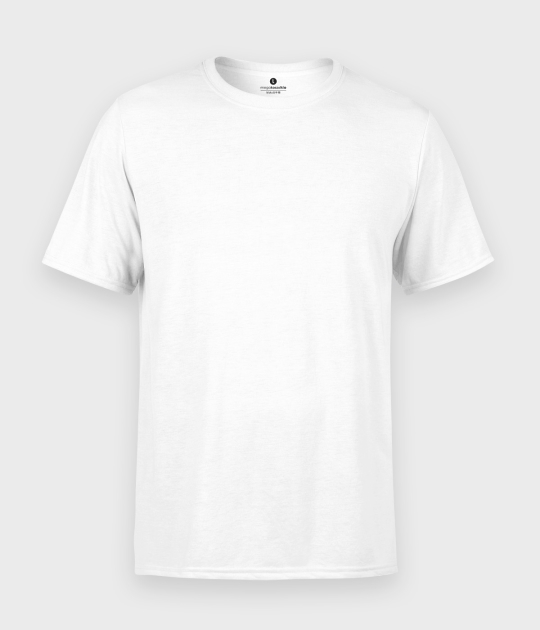 Męska koszulka standard plus (bez nadruku, gładka) - biała