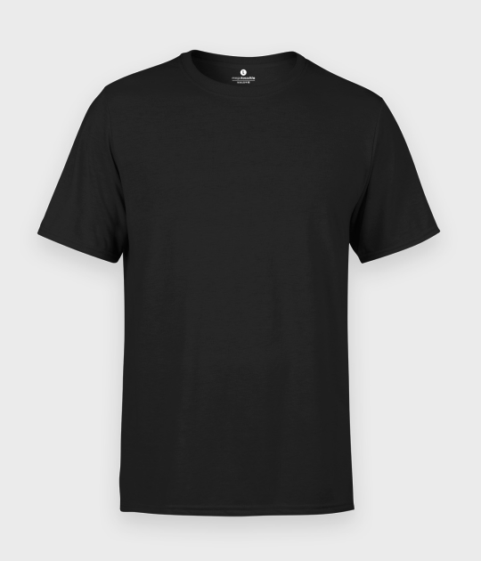 Męska koszulka standard plus (bez nadruku, gładka) - czarna