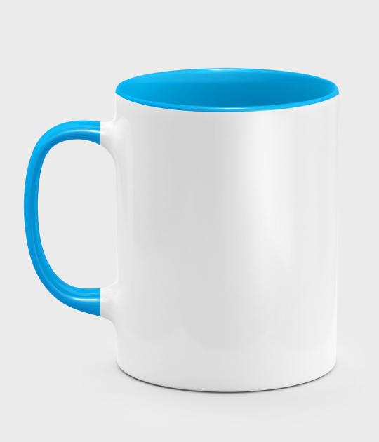 Kolorowy kubek (bez nadruku, gładki) - niebieski