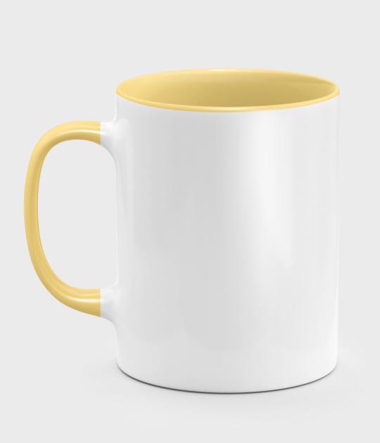 Kolorowy kubek (bez nadruku, gładki) - żółty