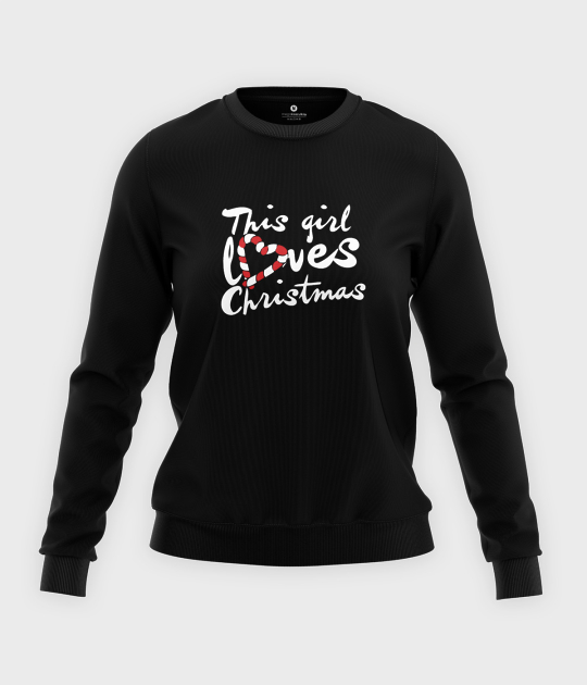 Bluza klasyczna damska This girl loves Christmas