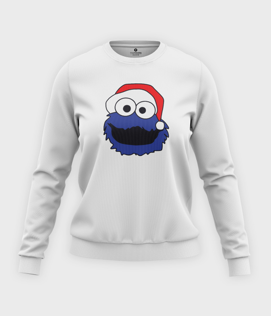 Bluza klasyczna damska Merry Christmas Cookie Monster