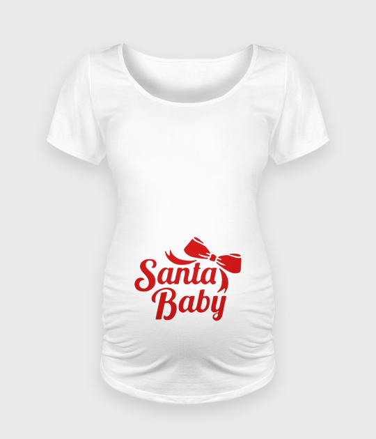 Koszulka damska ciążowa - Oversize Santa Baby