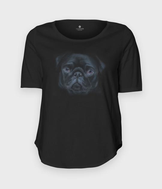 Koszulka damska trzy czwarte Pug face 3D