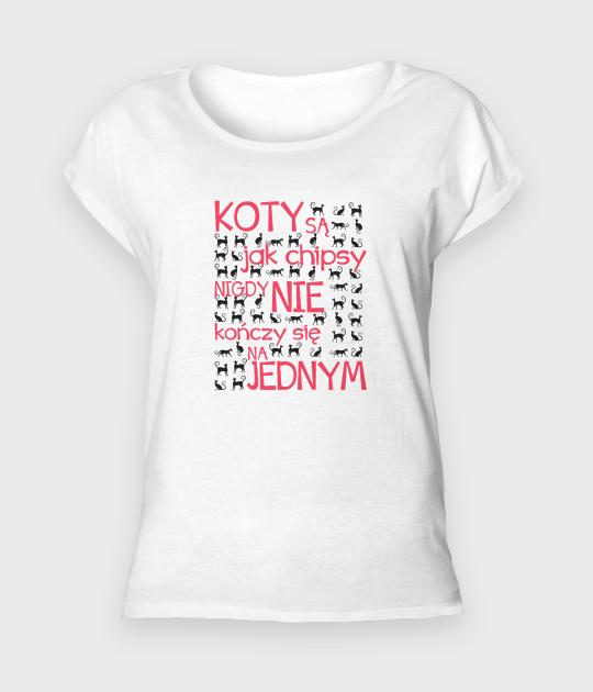 Koszulka damska rolls Koty