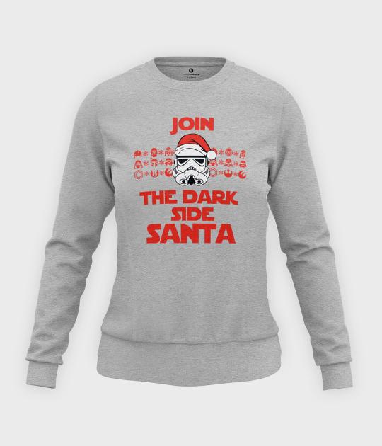 Bluza damska taliowana The dark side Santa