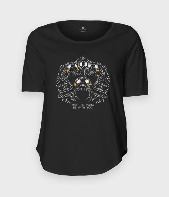Koszulka damska trzy czwarte Porg