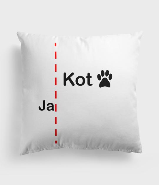 Poduszka Poduszka o równouprawnieniu z kotem