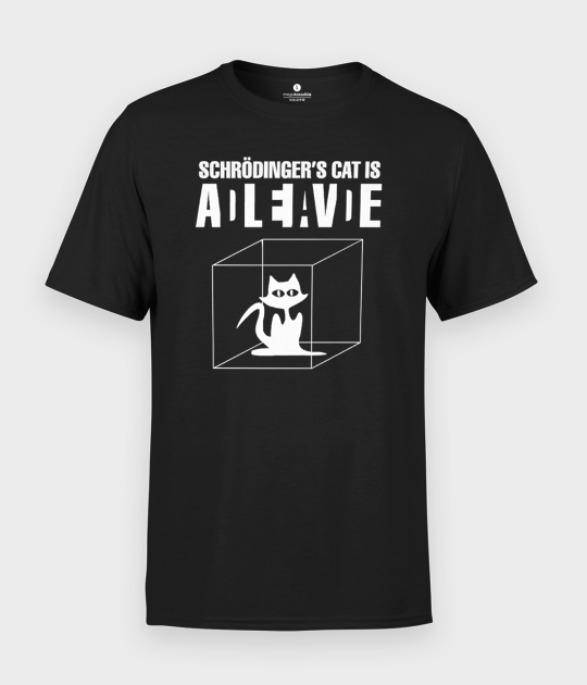 Koszulka męska Kot Schrodingera
