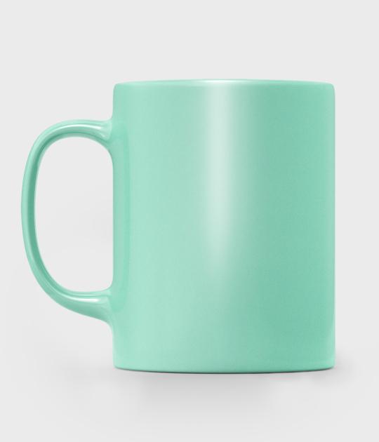 Kubek metaliczny (bez nadruku, gładki) - zielony