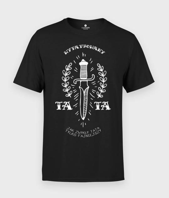 Koszulka męska Tattoo dad knife