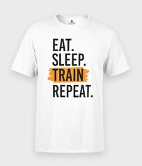 Koszulka Eat Sleep Train Repeat - Na siłownię / treningowe