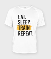 Koszulka sportowa Eat Sleep Train Repeat - Na siłownię