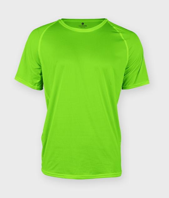 Koszulka męska sportowa (bez nadruku, gładka) - zielona (neonowa)