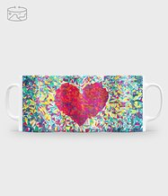 Kubek full print Geometric heart