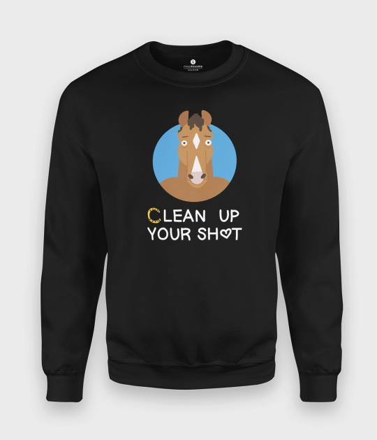Bluza klasyczna Clean up your shit