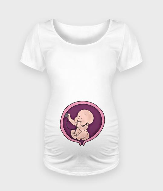 Koszulka damska ciążowa - Oversize Baby Doctor - Ciąża