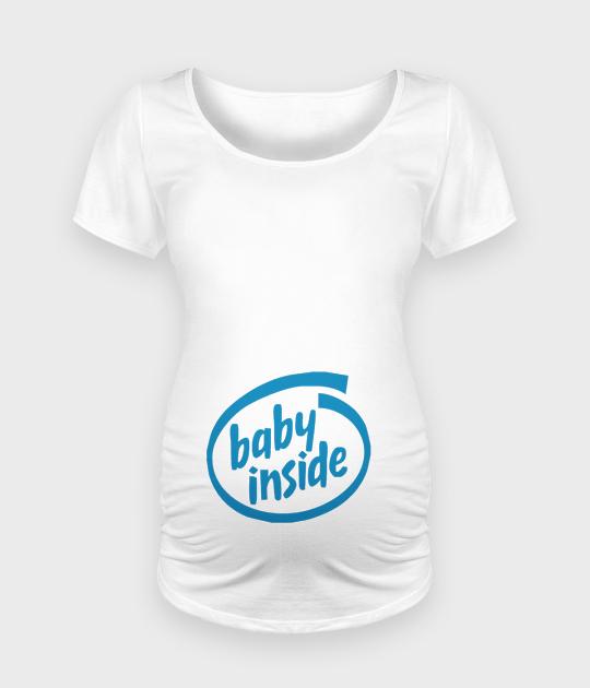 Koszulka damska ciążowa - Oversize Baby Inside - Ciąża