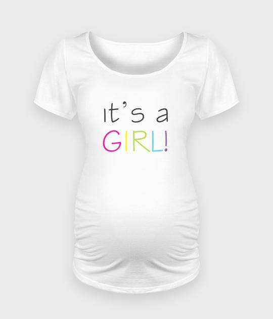 Koszulka damska ciążowa - Oversize It's a girl - Ciąża