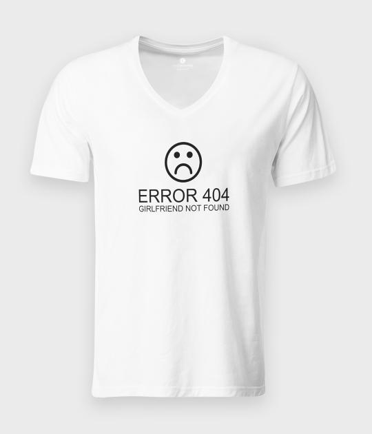 Koszulka męska v-neck Error girl