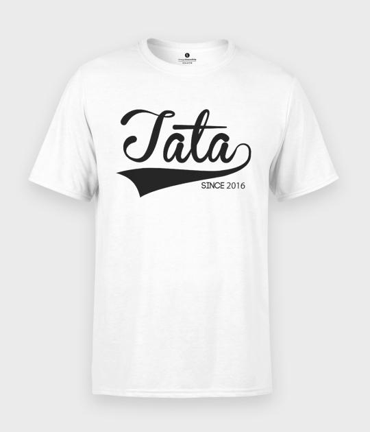 Koszulka męska Tata since + Twoja Data
