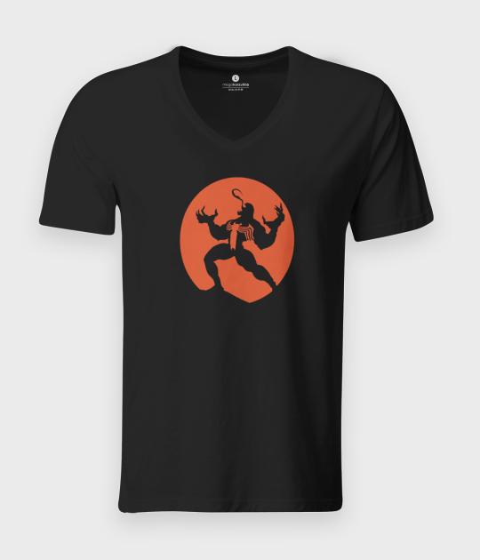 Koszulka męska v-neck Venom moon