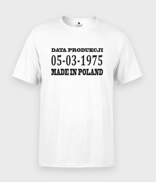 Koszulka męska Made in Poland + Twoja data