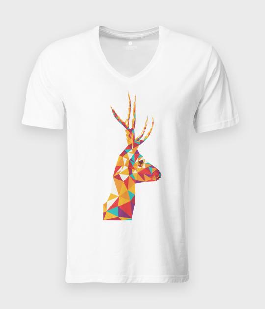 Koszulka męska v-neck Triangle Deer 2