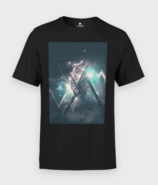 Koszulka męska Kosmiczna Sowa