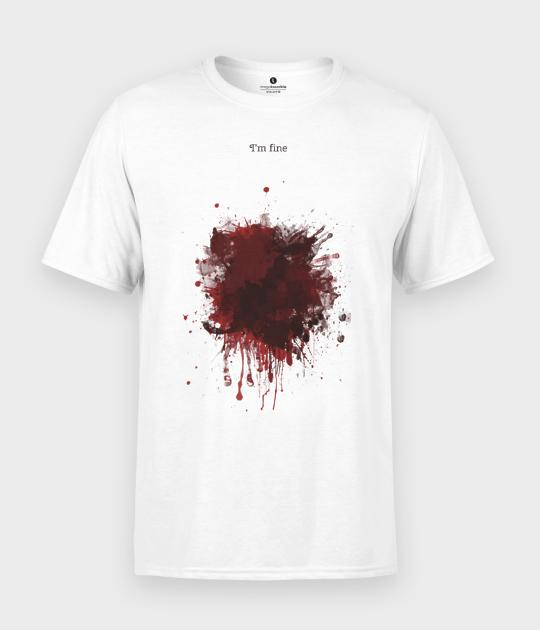 Koszulka męska Blood Splatter I am fine