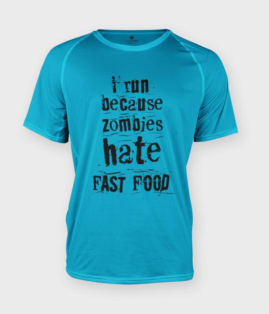 Koszulka męska sportowa Fast food