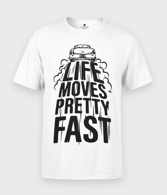 Koszulka męska Life movies pretty fast