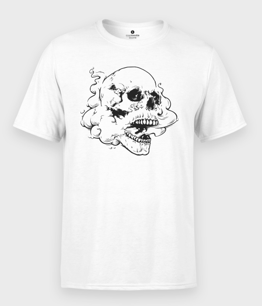 Koszulka męska Czaszka z dymem