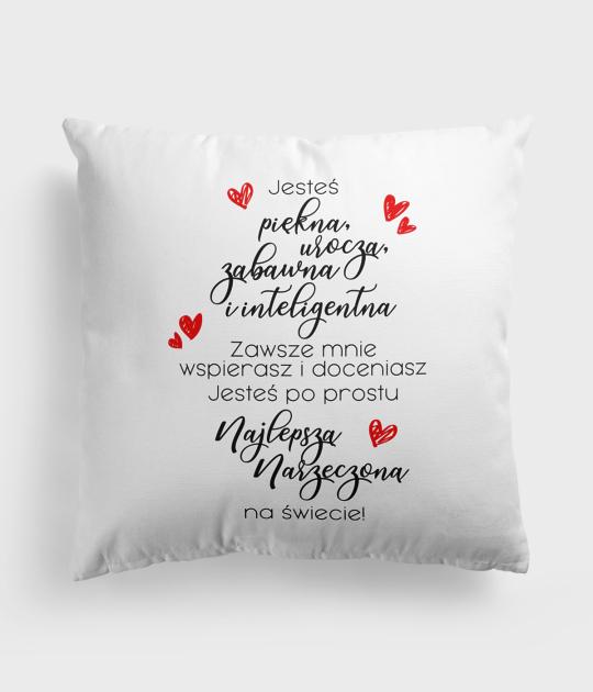 Poduszka Miłosne wyznanie dla narzeczonej