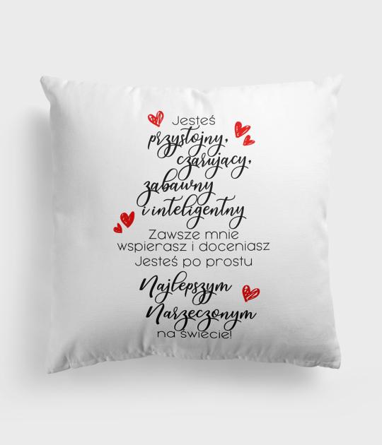 Poduszka Miłosne wyznanie dla narzeczonego