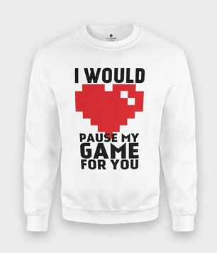 Bluza Pause my game
