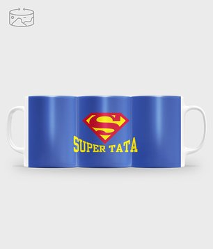 Kubek full print Super tata 2
