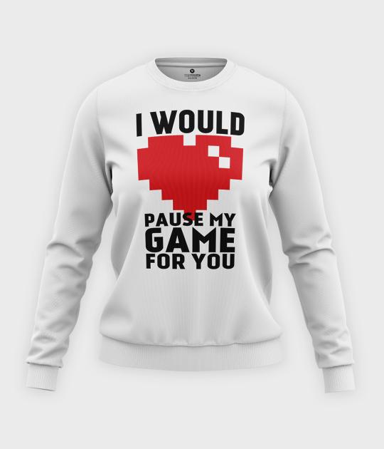 Bluza klasyczna damska Pause my game